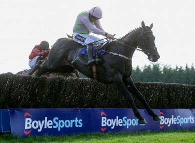 Ruby Walsh aboard Burrows  Saint on the way to winning the 2019 Irish Grand National.