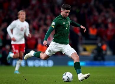 Ireland's Sean Maguire.