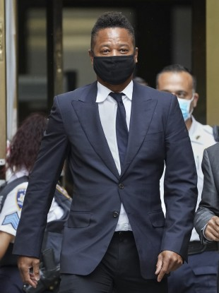 Cuba Gooding Jr leaves court after a hearing in his sexual misconduct case last Thursday.