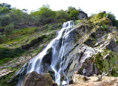 Powerscourt waterfall in Co Wicklow.
