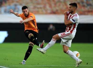 Matt Doherty in action for Wolves