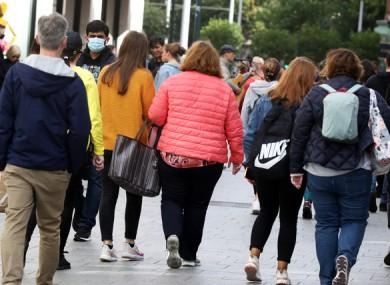 People in Dublin city centre last weekend.