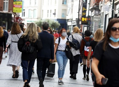 File photo. Shoppers on Dublin's Grafton Street at the weekend.