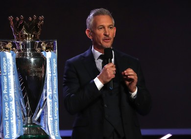 Gary Lineker is remaining with the BBC.