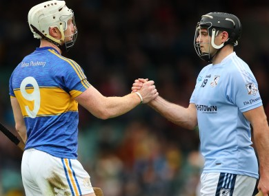 Patrickswell's Cian Lynch and Na Piarsaigh player Alan Dempsey in last year's final.