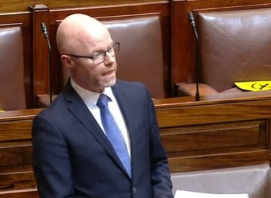 A number of opposition TDs rounded on the minister today accusing the government of losing the public confidence.