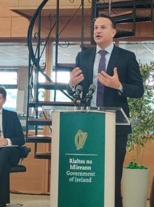Tánaiste Leo Varadkar says Ireland's Covid positivity rate has been stable for weeks.