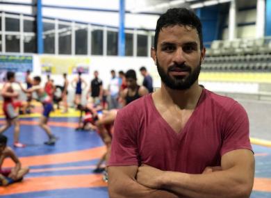 Champion wrestler Navid Afkari.