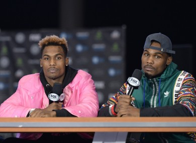 The Charlo twins, Jermall and Jermell (file pic).