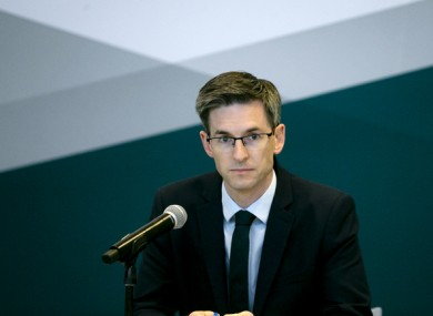 Acting Chief Medical Officer Dr Ronan Glynn at a Department of Health briefing yesterday.