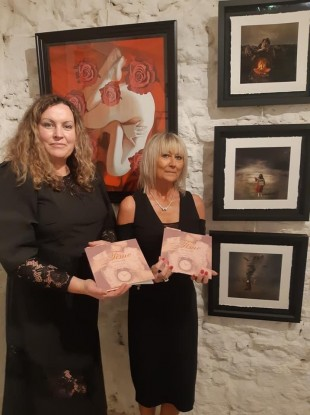 Cavan Arts members with their book which will be launched tonight.