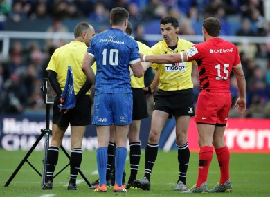 Pascal Gauzère was assistant referee for last year's final between Leinster and Saracens.