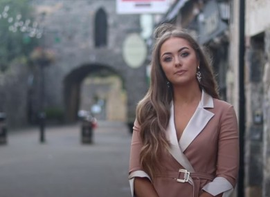 Chelsea Farrell, who was crowned Miss Ireland last year.