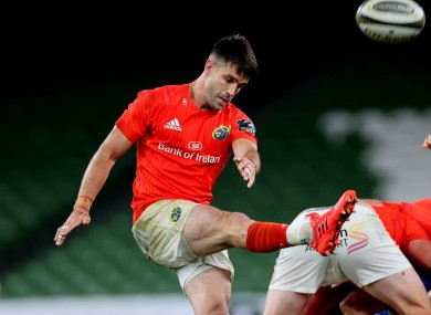 Murray played 71 minutes of Munster's defeat on Friday night.