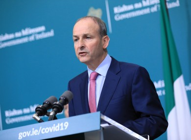 The Taoiseach announced the measures this evening.