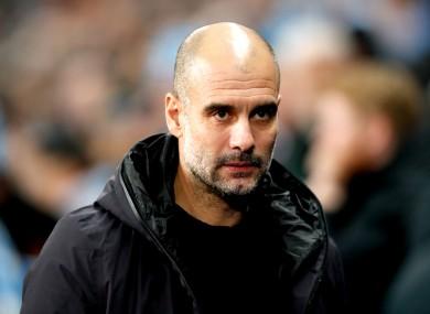 City manager Pep Guardiola.