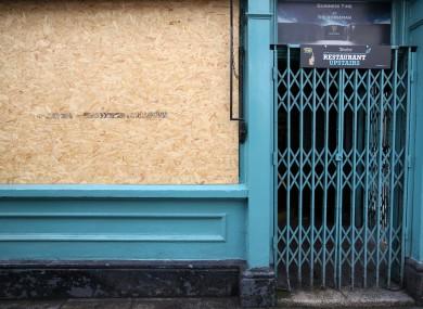 File image, closed pub in Dublin.
