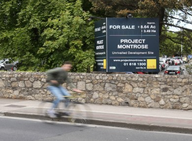 Signs advertising the site for sale at RTÉ prior to its purchase by Cairn Homes.
