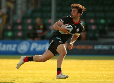 Saracens' Dom Morris scores his side's second try of the game.