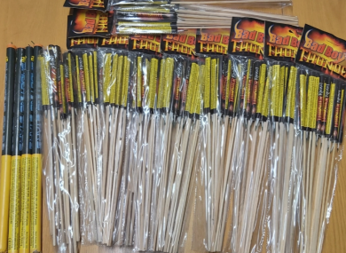 Fireworks seized by gardaí earlier this month.