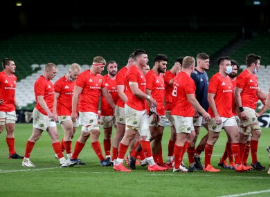 Munster leave the field after another defeat to Leinster at the Aviva.