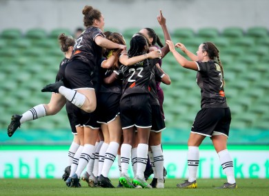 The Wexford Youths players celebrating (file photo).
