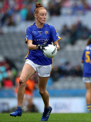 Aishling Moloney on the ball in the 2019 All-Ireland intermediate football final.