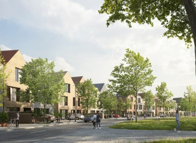 Images of what Cherrywood Village will look like.