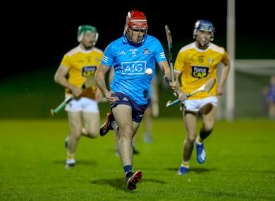 Enda O'Donnell on the attack for Dublin against Antrim.