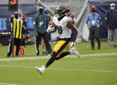 Diontae Johnson scored a touchdown for the Pittsburgh Steelers.