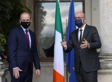 The Taoiseach met with European Council president Charles Michel in Dublin today.