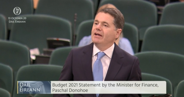 Budget 2021 as it happened: Rebate scheme for Covid-hit businesses and Christmas bonus for those on PUP