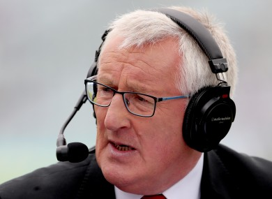 Pat Spillane on sideline duty with the Sunday Game in 2018.