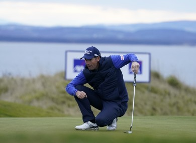 Harrington on the 18th at Fairmount St Andrews today.