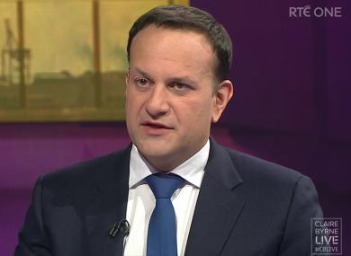 Tánaiste Leo Varadkar speaking on RTÉ tonight.