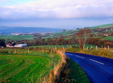 View along the Strabane-Plumbridge Road, Northern Ireland