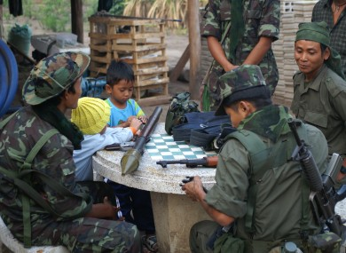 File photo of soldiers in Myanmar.
