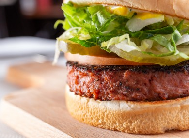 A plant-based burger