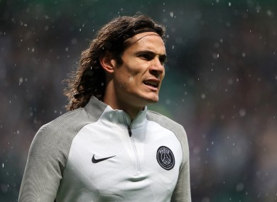 Edinson Cavani most recently played with PSG.