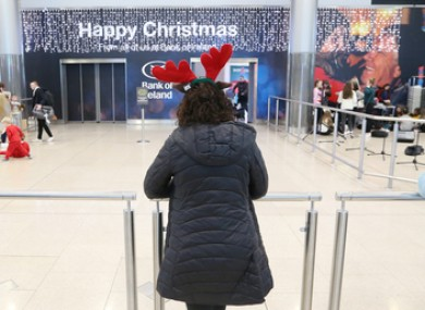 People at Dublin Airport at Christmas last year.