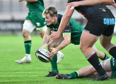 Scrum-half Colm Reilly was man of the match for Connacht last weekend.