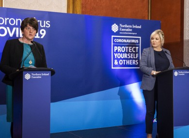 File photo - First Minister Arlene Foster and deputy First Minister Michelle O'Neill