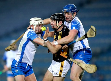 Kilkenny's Conor Delaney with Waterford's Dessie Hutchinson and Austin Gleeson.