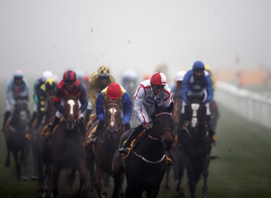 On to Victory is on the way to victory at November Handicap at Doncaster.
