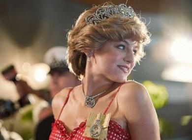 Emma Corrin as Princess Diana in the Netflix series