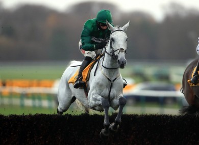 Bristol De Mai ridden by Daryl Jacob on their way to winning the Betfair Chase at Haydock.