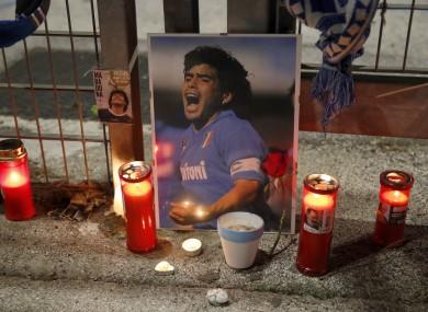 A tribute to the late Diego Maradona.