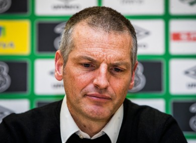 Jim Crawford pictured during today's Ireland U21 press conference.