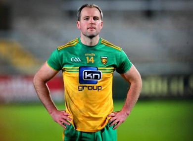 Donegal's Michael Murphy dejected after the game.