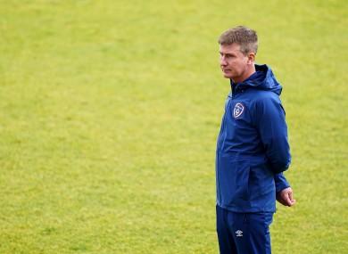 Stephen Kenny at Irish training earlier this week.